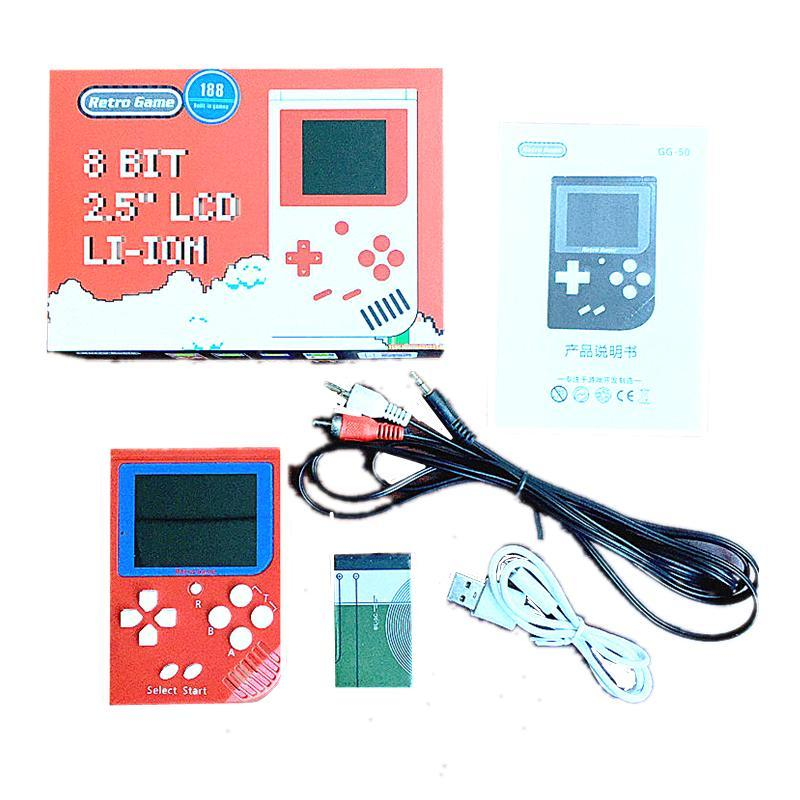 2018 Hot Mini Handheld Game Console pode armazenar 188 jogos Video Games Handheld Console pk rs-6