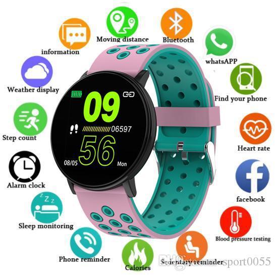 Samsung Saatler Spor İzleyiciler Bilezikler Kadınlar Nabız Smartwatch Su geçirmez Spor İzle İçin Android için 100pcs W8 Akıllı İzle