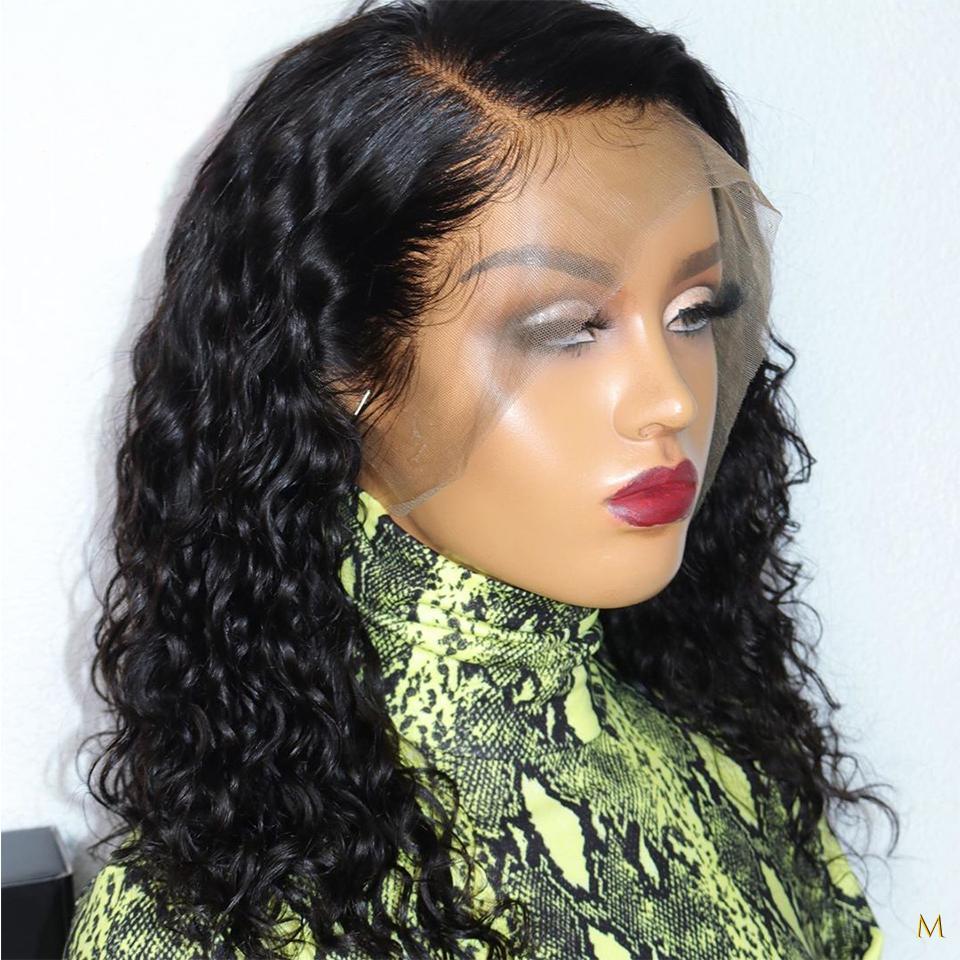 الجبهة الرباط 13x4 الانسان الشعر الباروكات المياه الطبيعية موجة شعر الطفل البرازيلي ريمي الشعر التقطه
