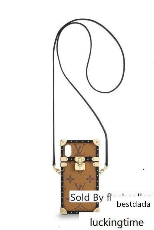 Diseñador de los ojos del tronco Iphone M62619 Muestra de cueros exóticos icónicos bolsos de tarde de los embragues de la cadena fruncen