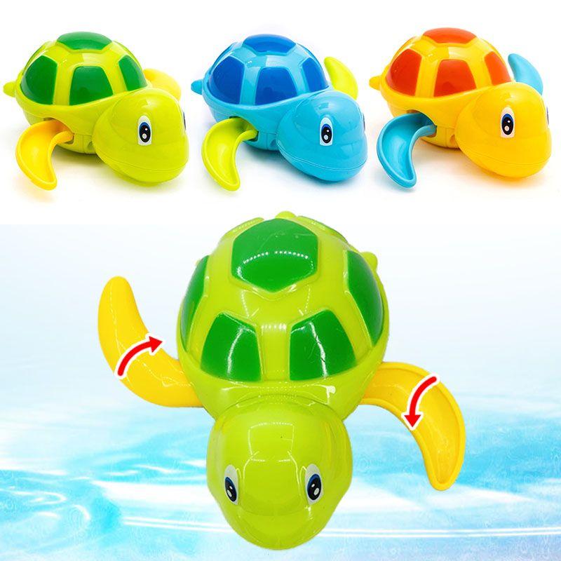 Lovely Swim Turtle Clockwork Baby Kid Child Bathing Dabbling Toy Gift UK Stock
