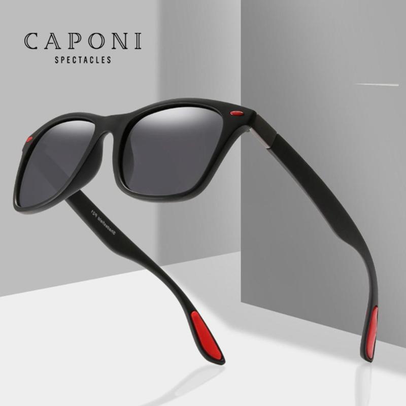 CAPONI Polarized Couple Sunglasses 2020 New Men Fashion Square Women Sun Glasses High Quality Metal Glasses Frame UV400 CP76712