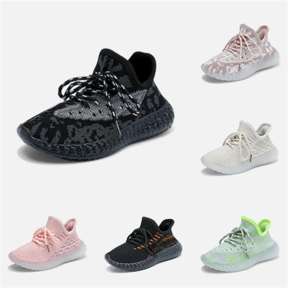 Nourrisson Clay enfant en bas âge V2 Chaussures de course pour enfants Kanye West Glow In The Dark statique De Jeunesse Chaussures Chaussure marche Sport Athletic Size24-35 # 116