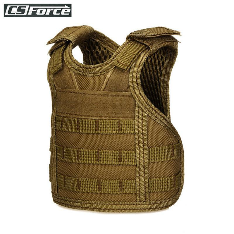 Mini Tactical Vest Beer Adjustable Shoulder Strap Military Miniature Hunting Vests Beverage Bottle Set Christmas Gift C19041501