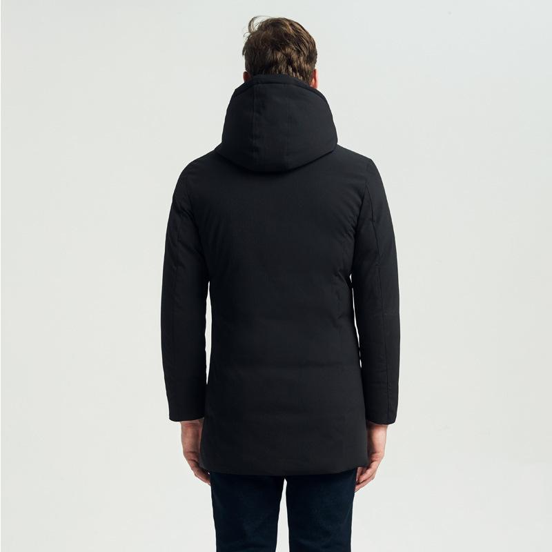 Nuovo arrivo di inverno wadded Parka da uomo taglie forti 4XL caldo nero spesso imbottito cappotto maschile Hood Windbreaker LX2274
