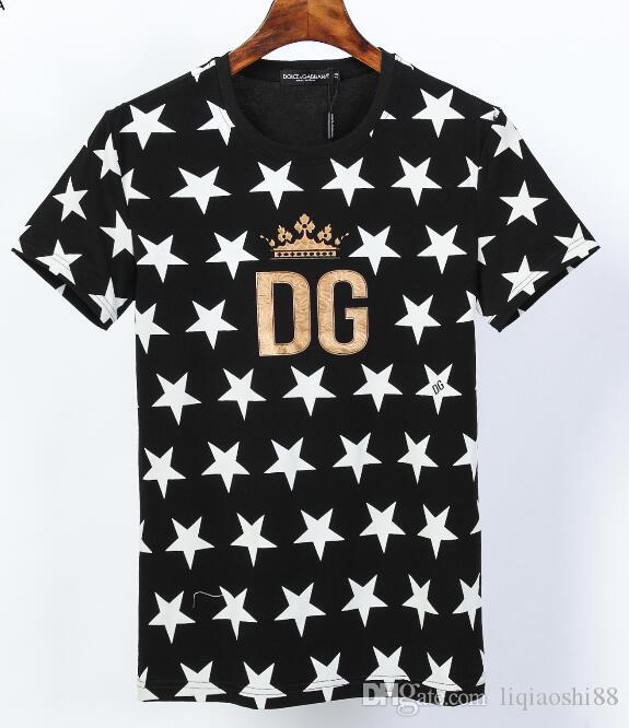 Sommermens-T-Shirt beiläufige gosha Brief gedruckt Baumwolle Kurzarm Street Black50