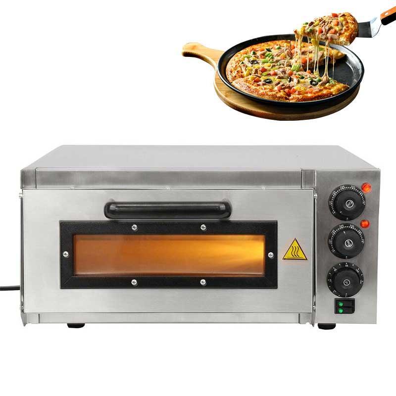 16 polegadas elétrica Pizza Forno Máquina de plataforma comercial Início Baking Forno Pizza Fogo Pedra Catering Amianto Roaster
