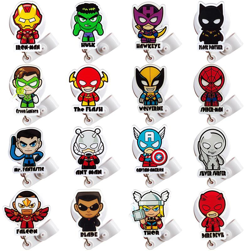 2020 Cartoon Nursing Retractable Badge Holder Nurse Badge Holder Id Card Holder Superhero Badge Reel Retractable For Work Office Supplies From Tb90551520 70 8 Dhgate Com