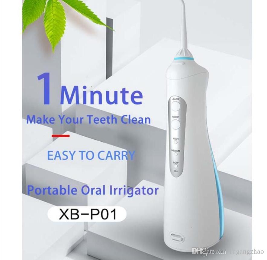 Oral Irrigator Portable Dentaire USB Eau Flosser Jet D'eau Électrique 200 ML Réservoir Eau Pick Dents Brosse