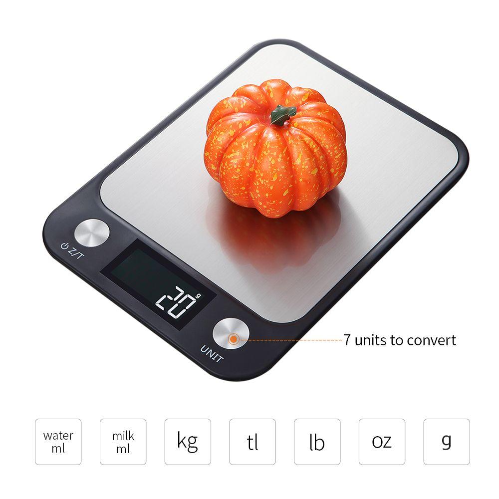 المطبخ الرقمية مقياس 5 كيلوجرام / 10 كيلوجرام 1 جرام المقاوم للصدأ المطبخ الموازين الإلكترونية عالية الدقة الغذاء الخبز مقياس تزن موازين المطبخ
