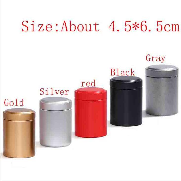 미니 금속 라운드 알약 상자 홀더 유리한 컨테이너 보관 케이스 방수 담배 차 캔은 5 색을 숨기