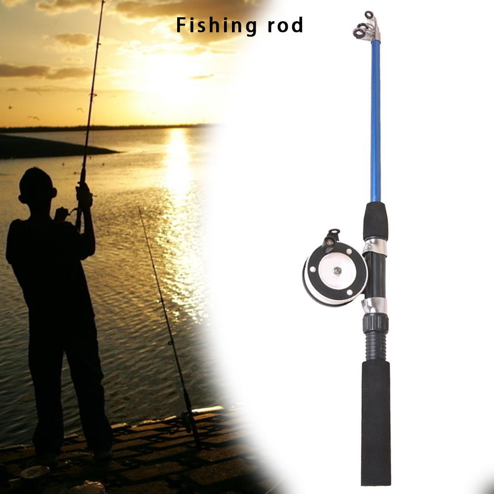 Portable Winter Fishing Pole Ice Fishing Rod Tip Carbon Fiber Retractable
