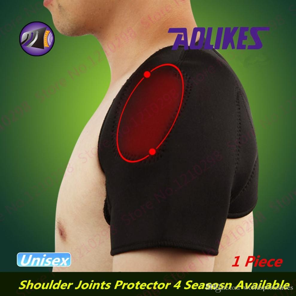 Self-Heating Shoulders Support Brace Magnetic Therapy Shoulders Covered Pads Medical Relieve Pain Double Protector #296251