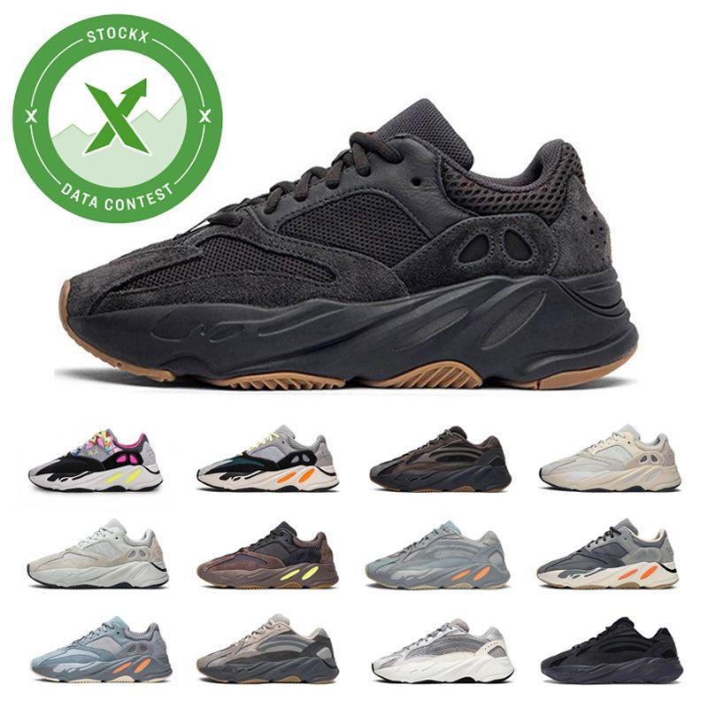 Kanye West 700 V2 Wave Runner Inertia Tephra Hospital Blue Geode Utility Black Vanta Runing Shoes Men Designer Shoes Women Static Sneakers