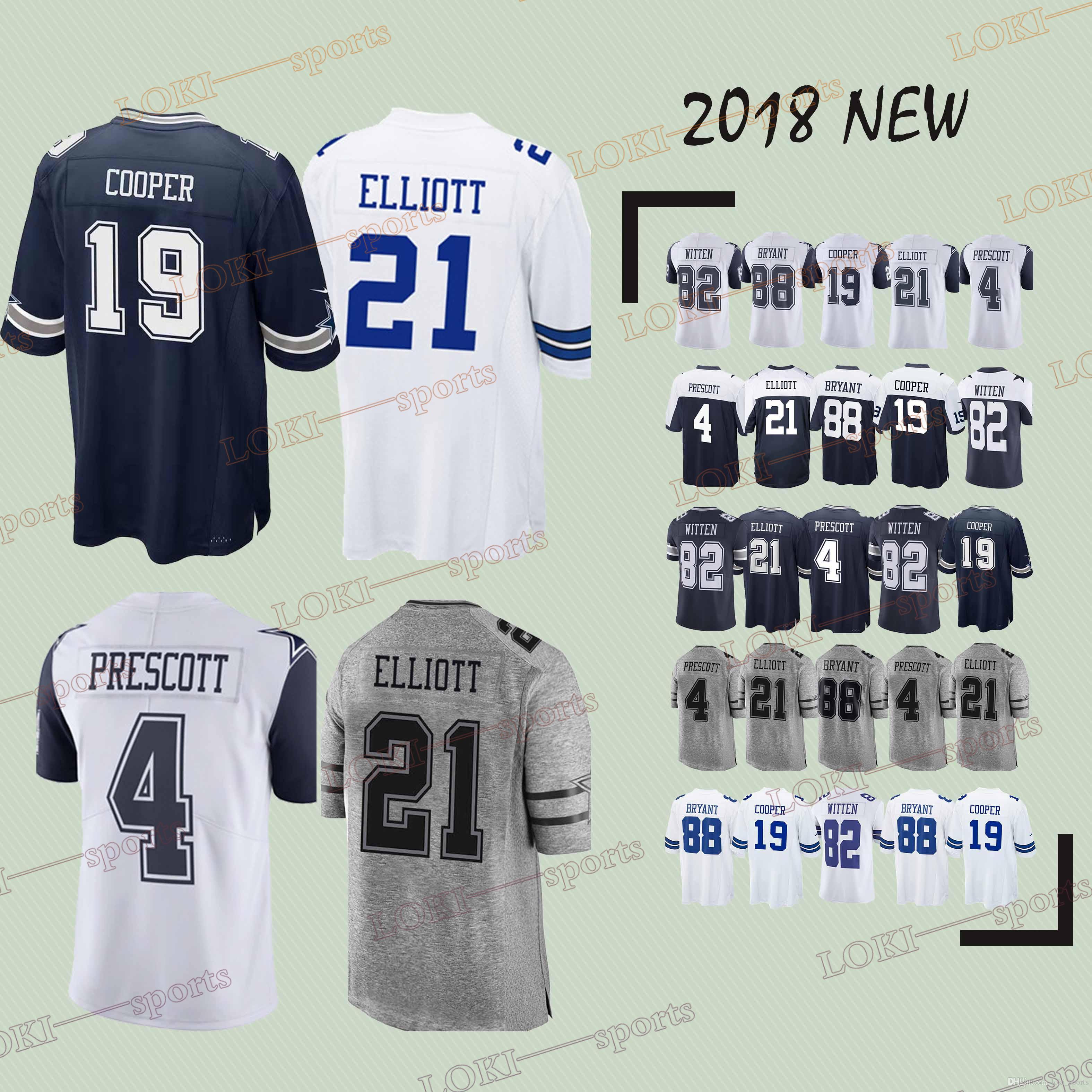 check out 37d8c 48e19 2018 Dallas Cowboys Jerseys 21 Ezekiel Elliott 19 Amari Cooper 55 Leighton  Vander Esch 88 Dez Bryant 4 DP Superior Quality 2018 2019 New Jersey From  ...