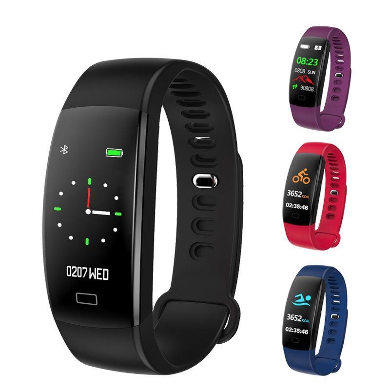 F64 Smart-Armband Blut-Sauerstoff-Monitor GPS Wasserdicht Fitness Tracker Smart Watch Anruf Alarm Sport-Armbanduhr für iOS iPhone und Android