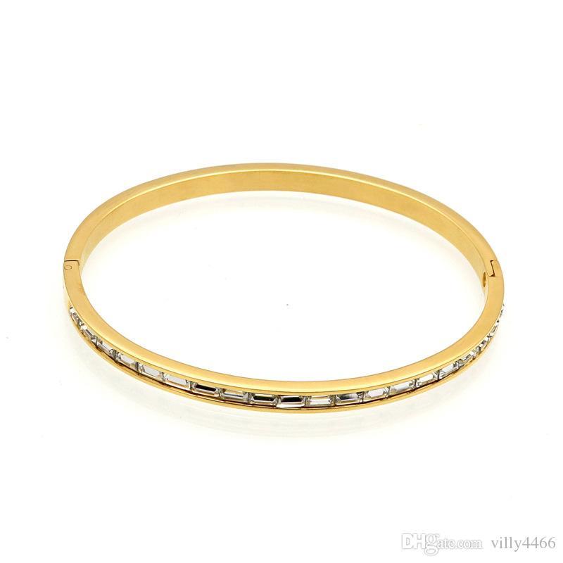 2019 Nouvelle marque de mode de luxe carte boucle serties amour de charme des femmes de personnalité bracelet vis quelques gros bijoux bracelet
