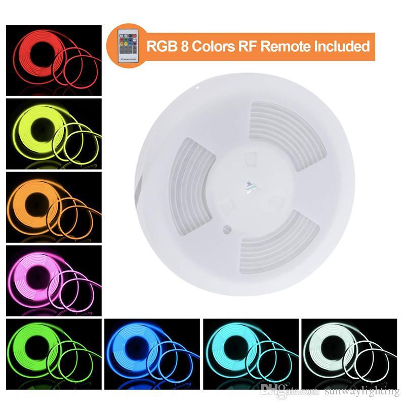 AC110 AC220V SMD5050 LED Неоновый Flex RGB Газа Лампа 12 Вт LED Неоновый Веревочный Светильник 60LEDS LED Неоновый Свет Рождественские Украшения 50 м
