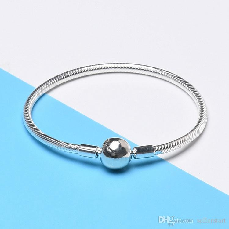 Ball Snake Bracelet for Pandora 925 Sterling Silver Classic Fashion Joker Lady Bracelet with Box Holiday Gift
