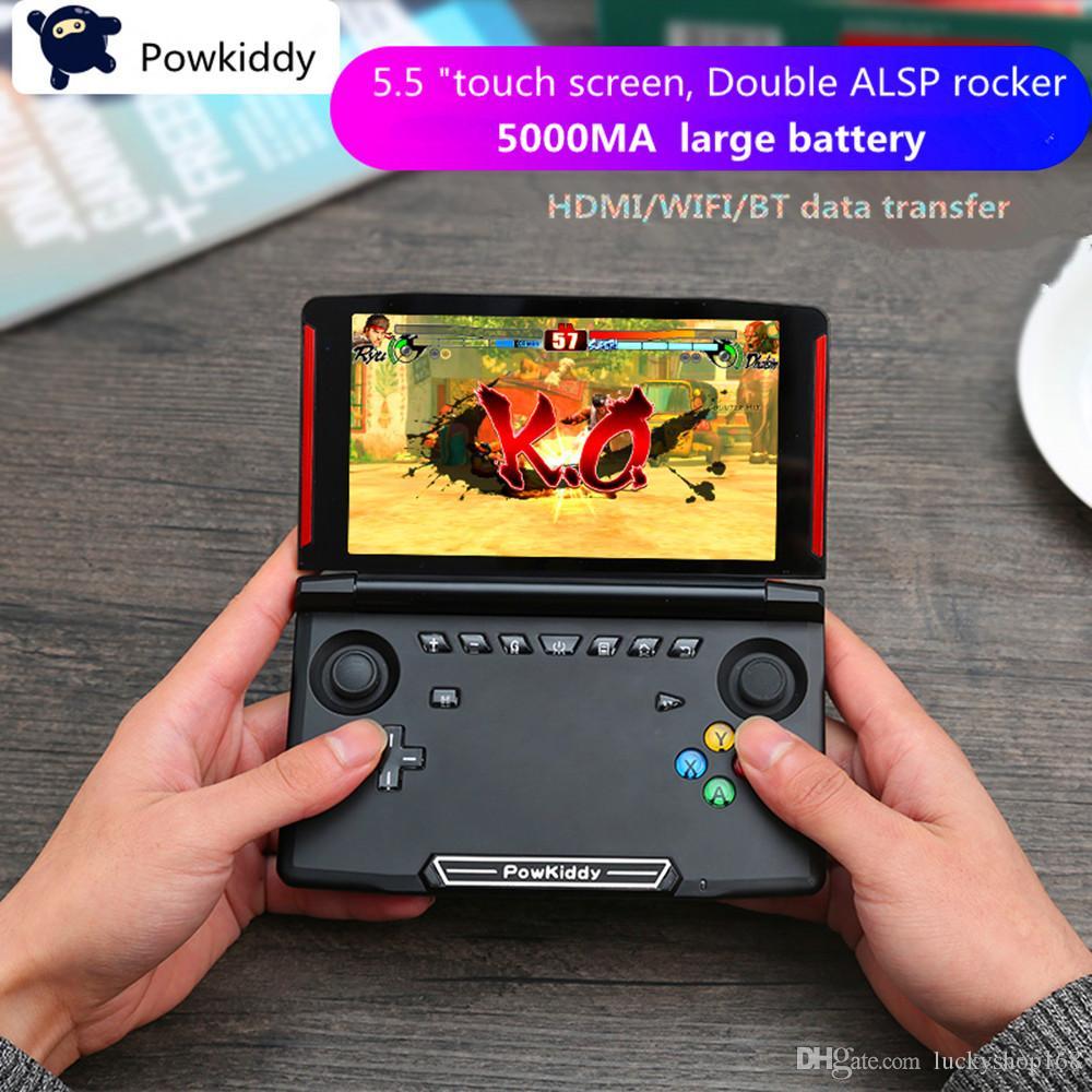 Powkiddy X18 Andriod Handheld Game Console 5,5 polegadas 1280 * 720 Tela MTK8163 quad core 2G RAM 16G ROM de vídeo portátil jogador do jogo 5pcs DHL