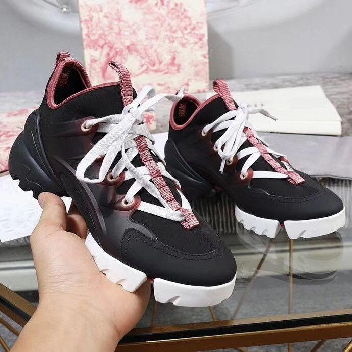 Toptan kaliteli arena ayakkabı bayanlar rahat spor ayakkabı moda marka yüksek top buruşuk deri karışık renk tasarımcı ayakkabı xh190528