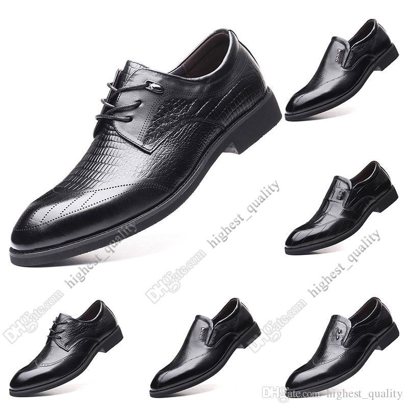 2020 New Hot Moda 37-44 sapatos novos sapatos casuais galochas dos homens de couro homens britânico frete grátis Alpercatas