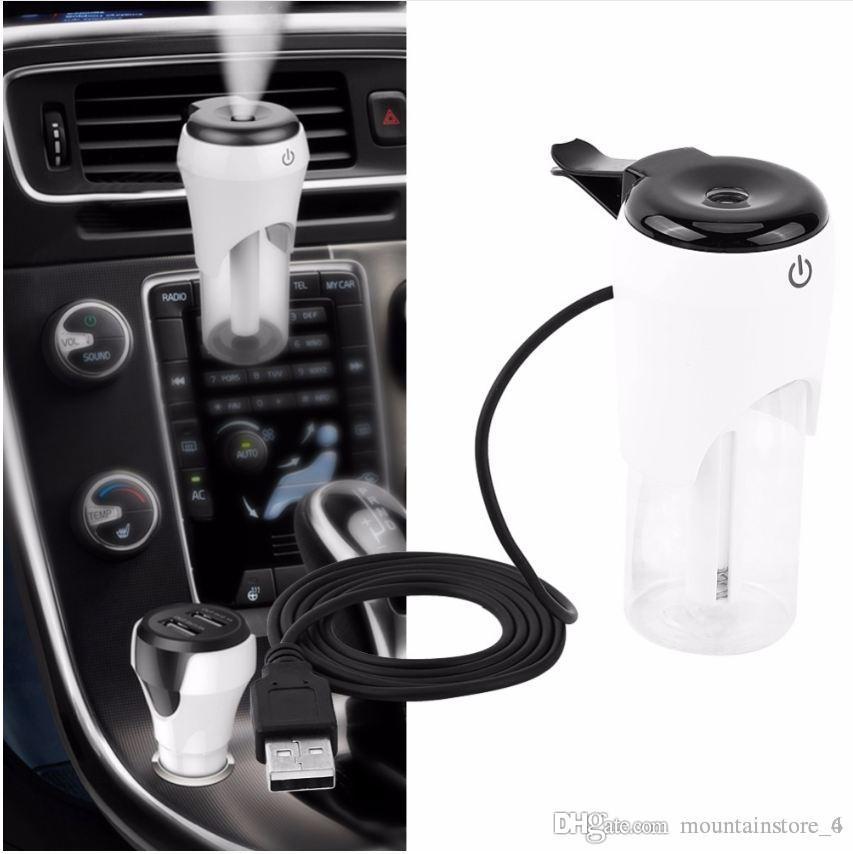 Автомобильный Увлажнитель Автомобильный Очиститель Воздуха Ароматический Диффузор Mist Maker Fogger Эфирное Масло Диффузор Ароматерапия USB Зарядное Устройство