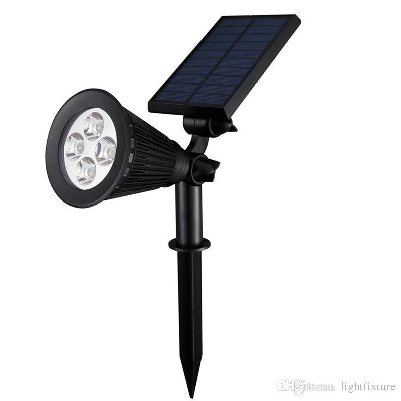Açık Bahçe Çim Güneş Lambası Hight Parlaklık 4 LED Güneş Işık Su geçirmez Spotlight Duvar lambası Gece Sensörü Yard Peyzaj Taşkın Işıklar