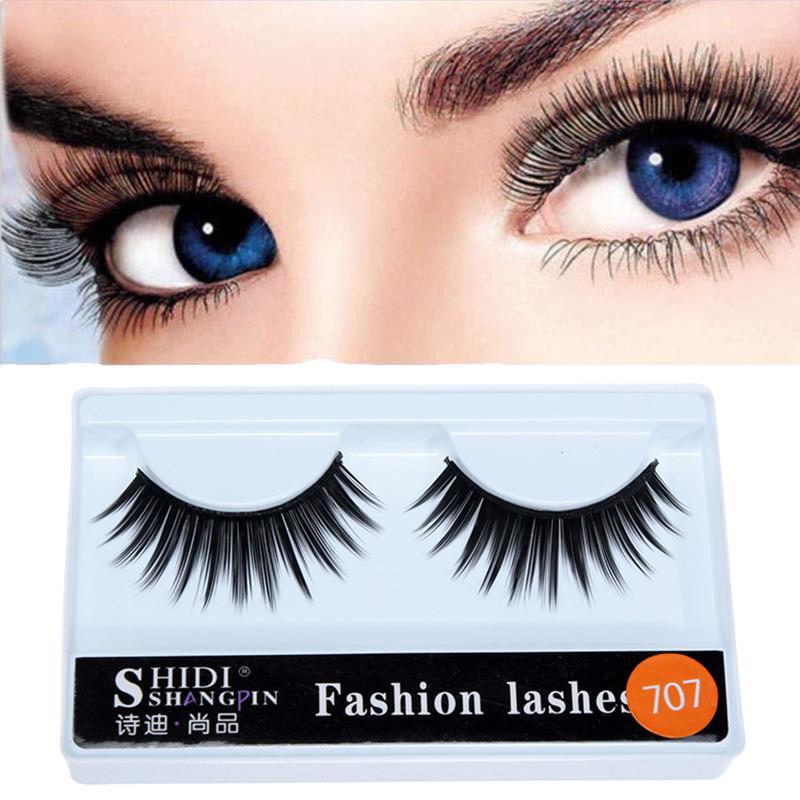 Livraison gratuite 1 paire 3D Natural / Gros Cheveux longs faux cils Cils Wispy Maquillage Beauté Outils Extension des yeux