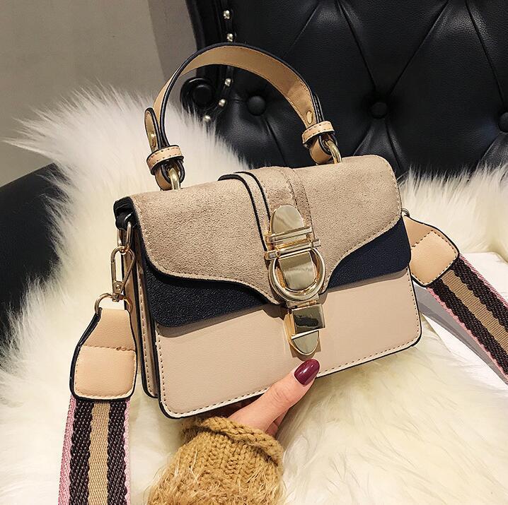 wholesale women handbag retro contrast women shoulder bag winter new matte leather Messenger bag elegant atmosphere leather fashion bag