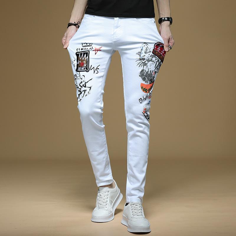 E-Baihui Jeans Neue Mode Herren Einfache Sommer Leichte Jeans Herren Mode Lässige Klassische Gerade Denim Designer Jeans L693
