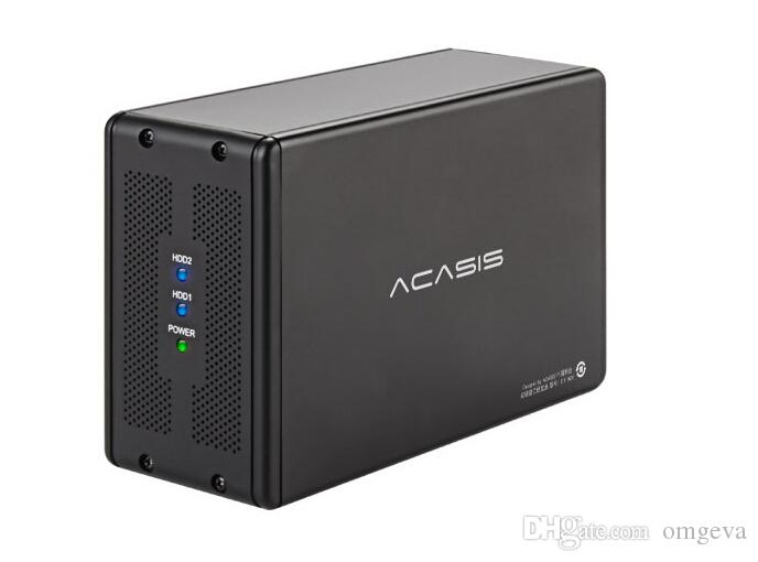 ACASIS DT-3608 de bureau 3,5 pouces de périphériques de stockage à deux ports SATA Serial Port to Array dur USB3.0 Mobile Disk RAID Box dur Box disque