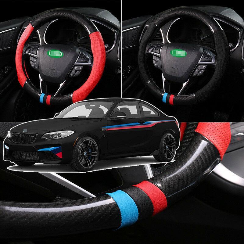 Für BMW M2 2016-2018 Lenkradbezug Anti-Rutsch-Carbon Top PVC Leder
