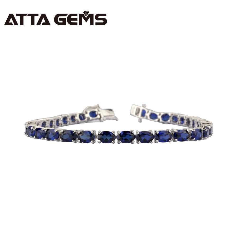 Düğün için düzenlendi Safir Seli Bilezik Kadınlar Moda Gümüş Mavi Safir Gümüş Bileklik 30 adet