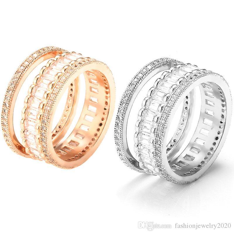Spedizione gratuita Coppia di anelli da donna Set Simulazione europea e americana Anello di diamanti Anello da donna Invia fidanzata Un regalo