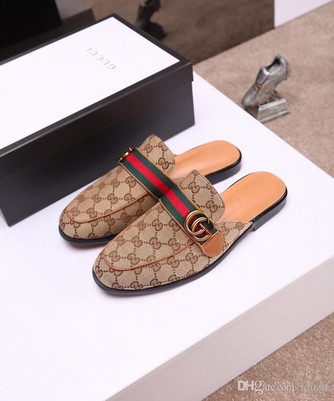 Fashion Slide Sandals Slippers Men With Original Box 2018 Hot Designer Flower Printed Unisex Beach Flip Flops Slipper Mens Slides