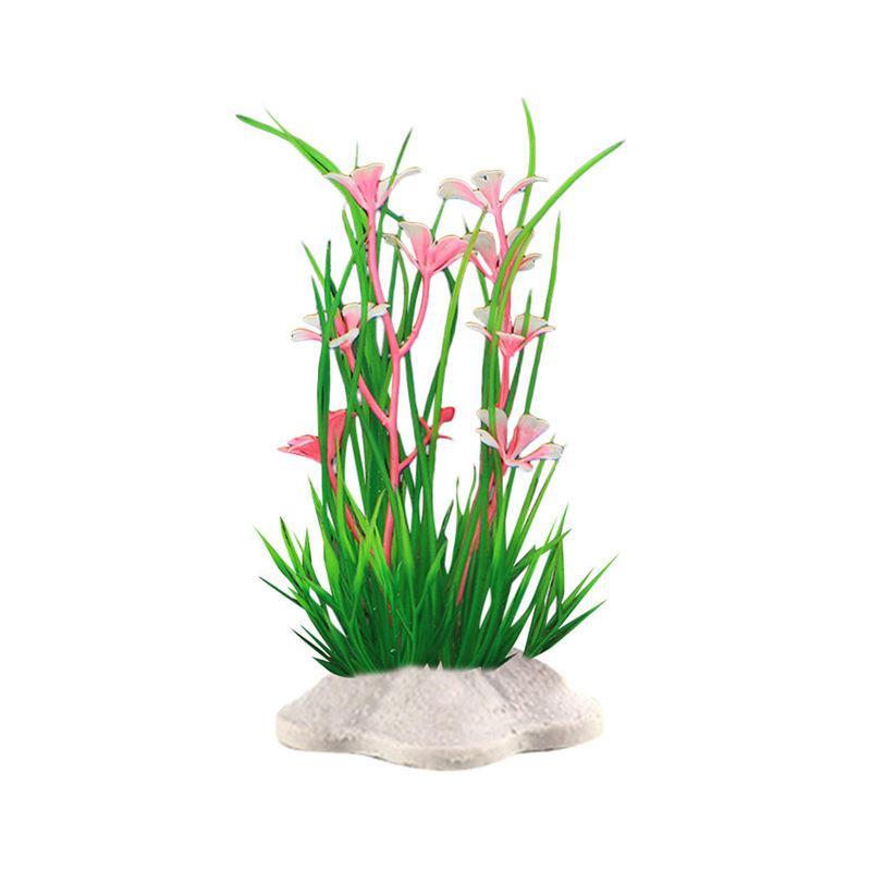 Simulé eau herbe poisson aquarium décoration plastique vert herbe plantes eau ornement plante Fausse usine Hot New F19