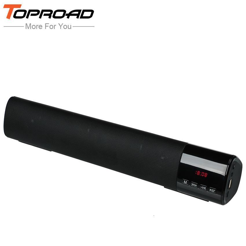 TOPROAD большой мощности 10W HIFI Портативный беспроводной Bluetooth Speaker Stereo Soundbar TF FM USB Сабвуфер колонки для компьютера ТВ Телефон T191128
