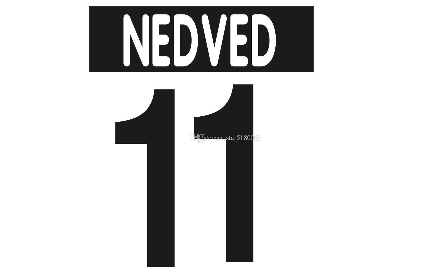 00-03 JUV Home hot printing soccer nameset #11 NEDVED BUFFON player's stamping stickers printed numbering football lettering