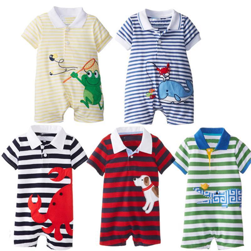 Комбинезоны Летняя Одежда Наборы Roupas Bebes Новорожденных Roupa Детские Комбинезоны Животных Baby Boy Одежда Q190518