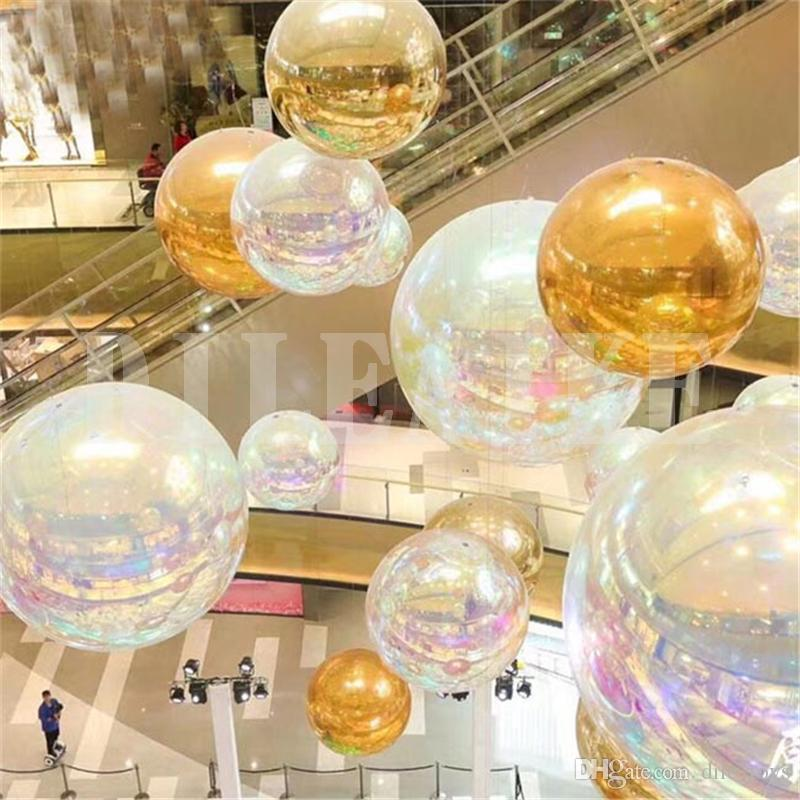 Dreamlike 2m/3m diameter inflatable mirror ball model for market decoration / customizated inflatable ball model toy