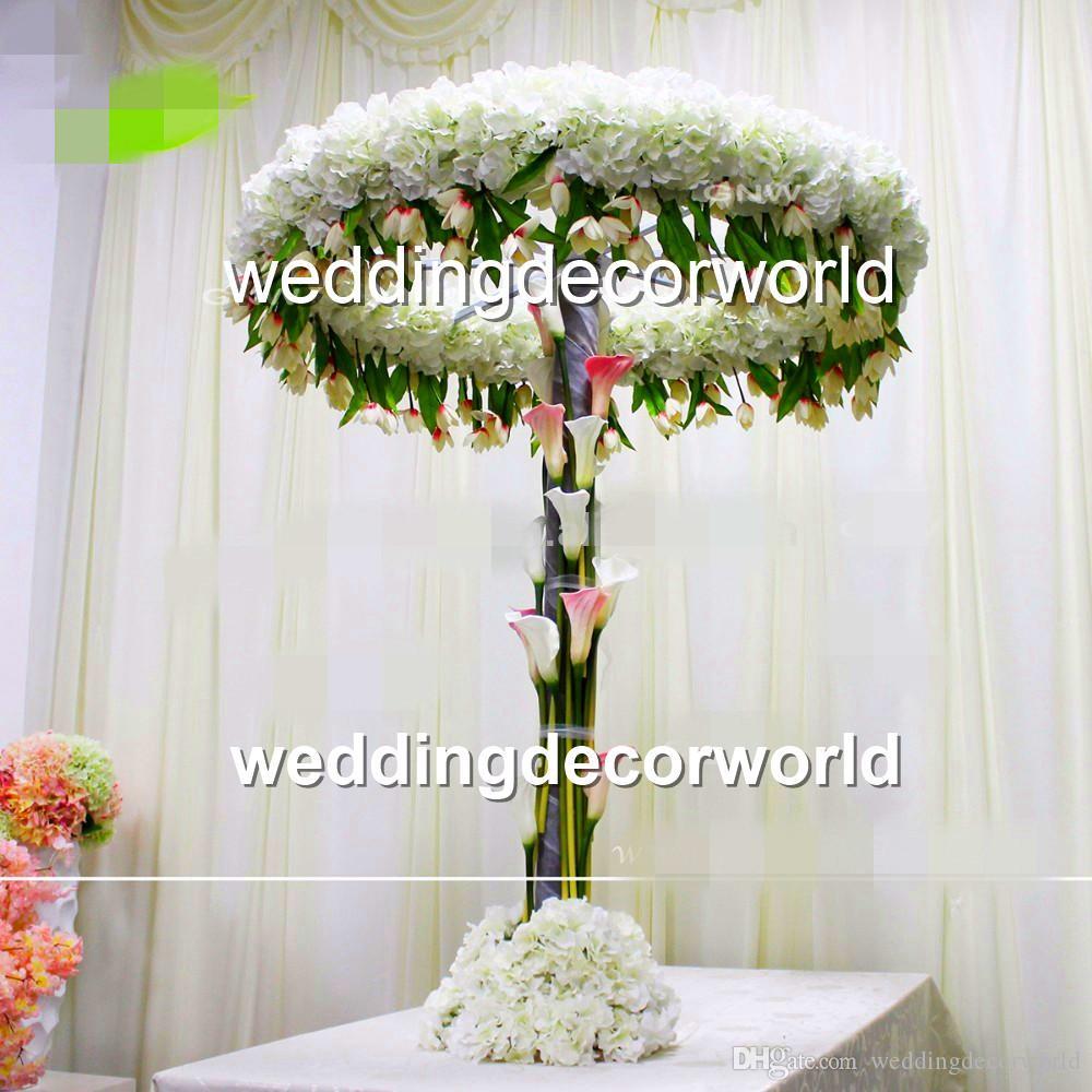 Nuevo estilo alto y grande Decoración de mesa Arco Arreglo de flores Arreglo de mesa Arreglos de centro guirnalda Decoración flor decoración de pasillo decoración 496