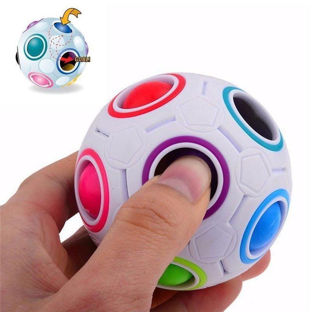 جديد حار غريب الشكل ماجيك مكعب لعبة مكتب لعبة مكافحة الإجهاد rainbow الكرة كرة القدم الألغاز الإجهاد المخلص