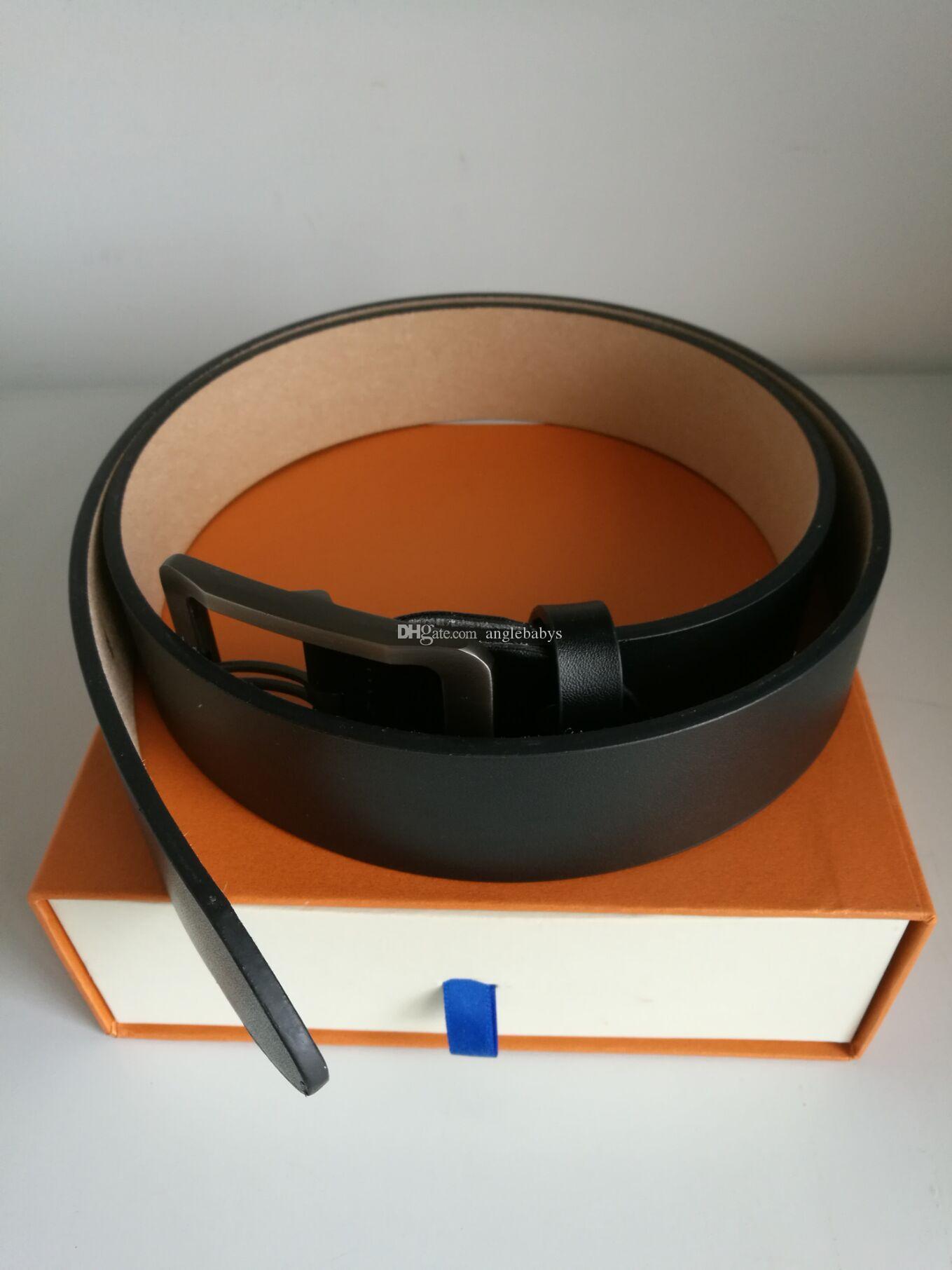 Cinghie designer di moda per Mens cinghie designer Cintura a quadri di lusso cinghia cinghie di cuoio commerciali Fiore Grande Oro Argento Fibbia con la scatola