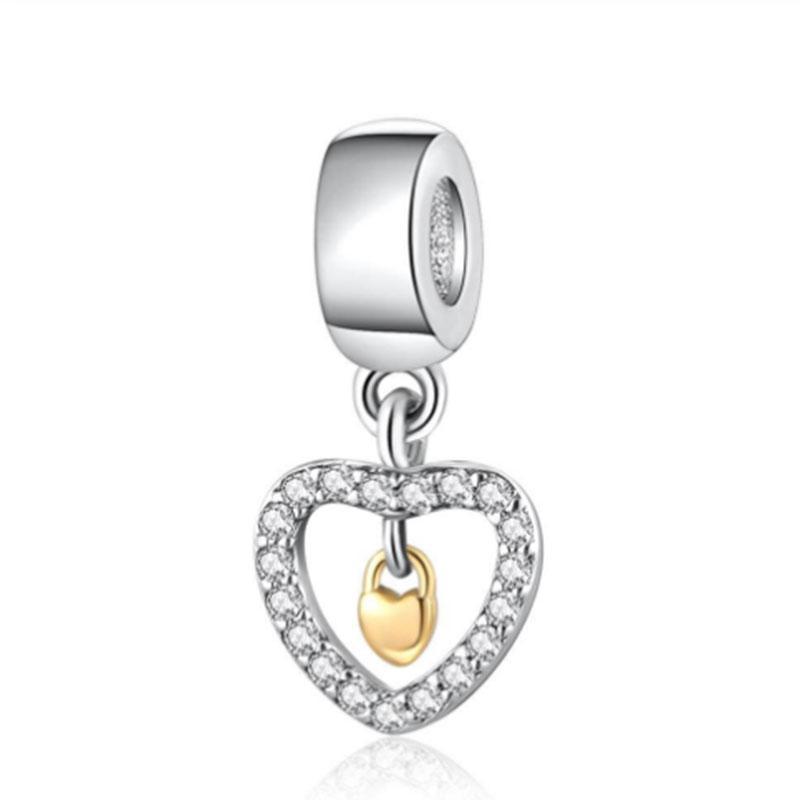 925 colgante de plata de ley en mi corazón para siempre damas colgante de collar de pandora pulsera brazalete de joyería de DIY el envío libre en Europa
