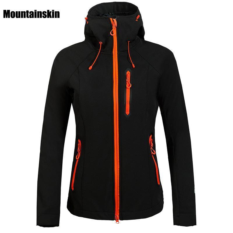 Mountainskin Kadınlar Kış Polar Softshell Ceket Açık Su Geçirmez Ceket Yürüyüş Kayak Trekking Kamp Kadın Rüzgarlıklar VB027