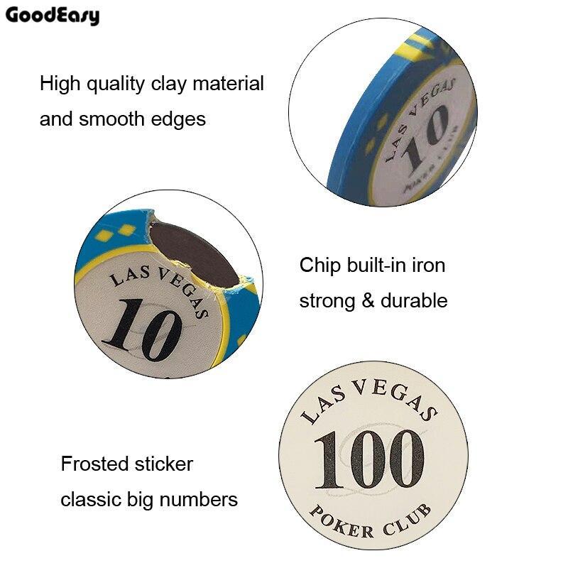 10 pezzi di argilla Materiale Casinò gettoni Texas Poker Chip Set Poker dollaro metallo Las Vegas Chips Poker Club accessori personalizzabili