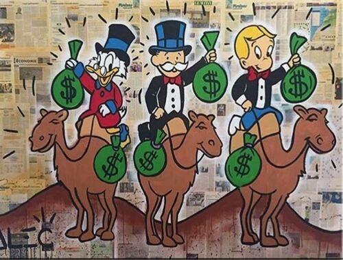 Alec Monopoly décoration murale art urbain Camel Home Décor peint à la main HD Imprimer Peinture à l'huile sur toile mur toile Photos 200201