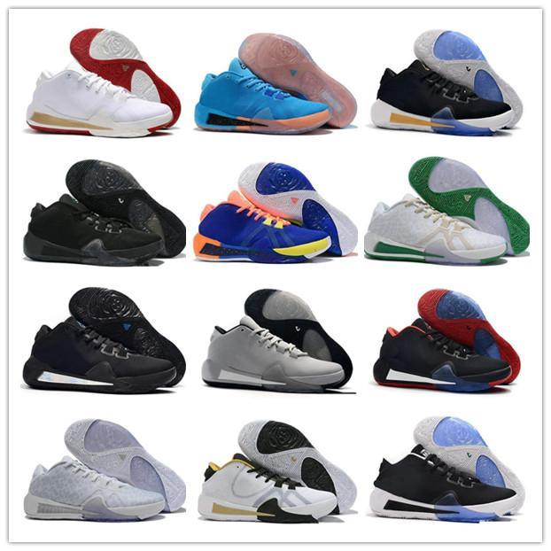 Nuova vendita calda 2020 ZOOM greca Freak 1 Giannīs Antetokounmpo Nero Bianco 22 colori GA I 1S firma scarpe di pallacanestro del Mens GA1 sport della scarpa da tennis