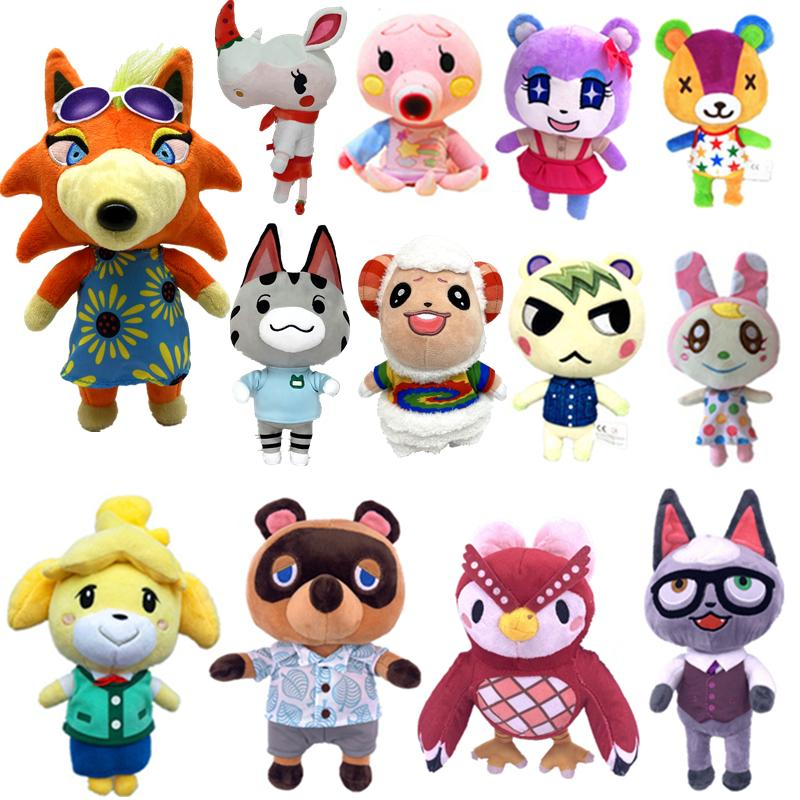Animal Crossing New Leaf Porter Isabelle Judy Brewster Tom Nook Kelee Kicks Lisa NFC Plush Toy for switch NS Games Plush Toy Amiibo Brewster